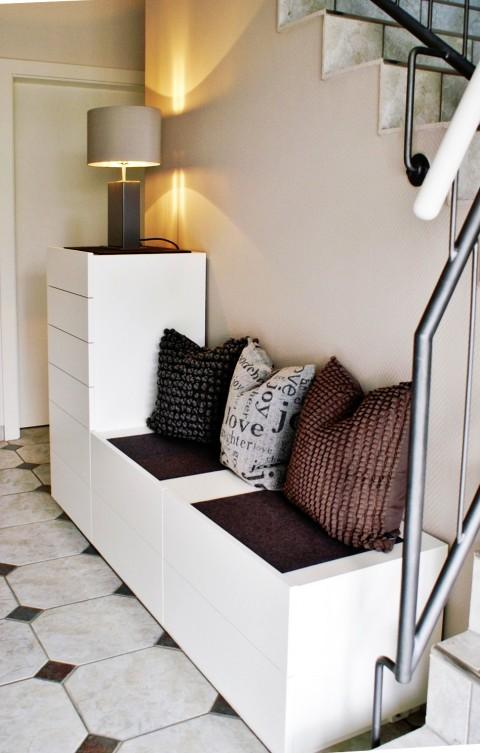 Garderobe - Sideboard - Sitzbank - Lack weiß